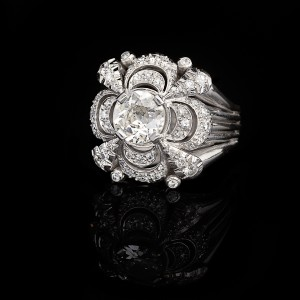 Platina diamond dress ring