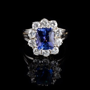 Tanzanite entourage ring