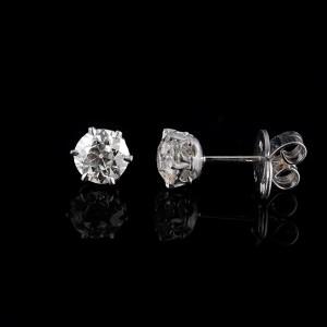 Solitair diamant oorstekers 2