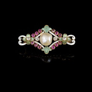 Emaille parel broche